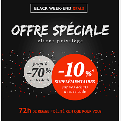 Portfolio - Emailing marketing Deals par Frédérique Celeste - Opération Black Friday